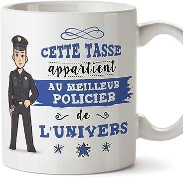 MUGFFINS Policier Tasses Originales de café et Petit-