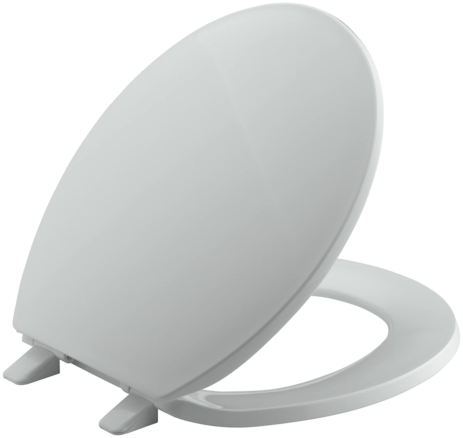 round front toilet dimensions. KOHLER K 4775 95 Brevia with Quick Release Hinges Round front Toilet Seat  Ice Grey Kohler Front Amazon com