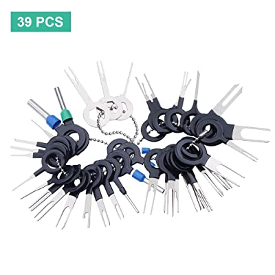Terminal Removal Tool Kit 39Pcs for Car Connector and Other Household Devices, Wire Connector Terminal Pin Extractors: Car Electronics