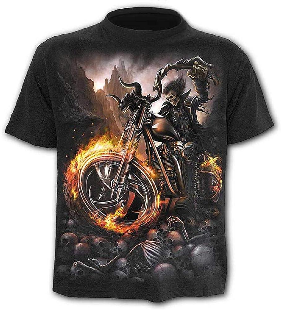 Camiseta - Camiseta - Camisa Calavera - Steampunk - gótico - Ciclistas - - 3D - Manga Corta - Hombre - Mujer - Unisex - Divertido - Regalo - Cosplay - Talla XL - c011: Amazon.es: Ropa y accesorios
