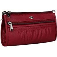 Kavi's Quality PU Leather Women's and Girls Wallet Clutch Purse Handbag (red)