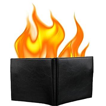 eb4ca139bca Amazon.com  KKTech Magic Flaming Fire Wallet Magician Stage Street ...