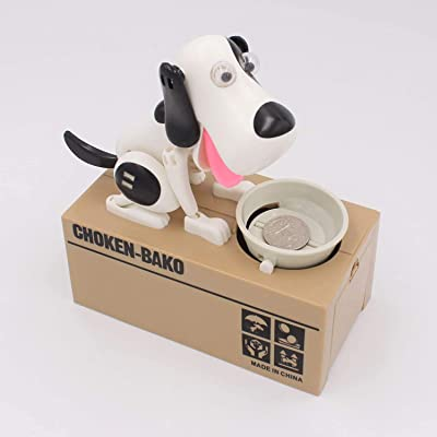 Goldenvalueable Dog Coin Money Box Cute Saving Bank: Toys & Games