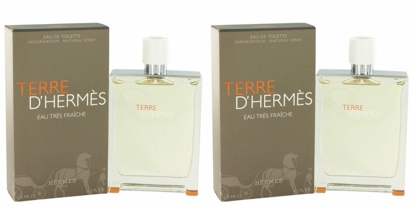 Térre D'hérmes Côlogne For Men 4.2 oz Eau Tres Fraiche Eau De Toilette Spray + a FREE 2.6 oz Deodorant Stick (PACKAGE OF 2)