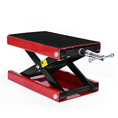 YITAMOTOR Motorcycle Wide Deck Scissor Lift Jack Dilated Center Hoist Stand-1100 LB Capacity: Automotive