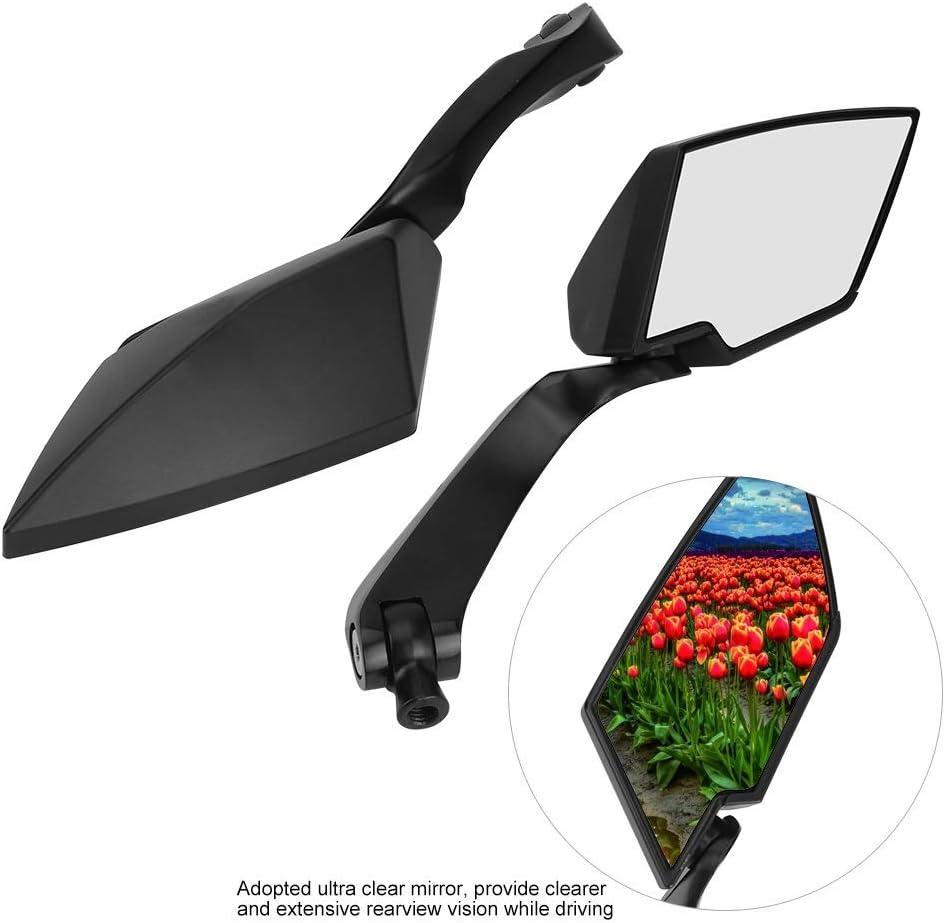 Farbe : Black R/ückspiegel-2Pcs Universal-R/ückspiegel Aluminiumlegierung Motorrad Modifikation Teile Spiegel
