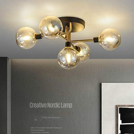 WSYYWD Lámpara de techo de lujo con luz interior moderna para ...
