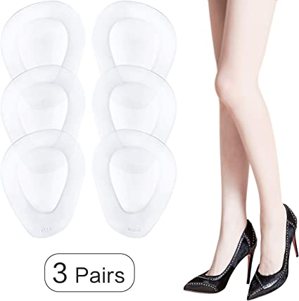 5 Pair High Heel Silicone Gel Cushion Insoles Front Pad Feet Shoe Foot Hot Sale