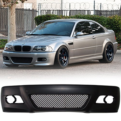 its 1999-2006 BMW 3 Series E46 | 2D Coupe M3 Style Front Bumper Guard Conversion Bodykit Black by IKON MOTORSPORTS | 2000 2001 2002 2003 2004 2005 ()