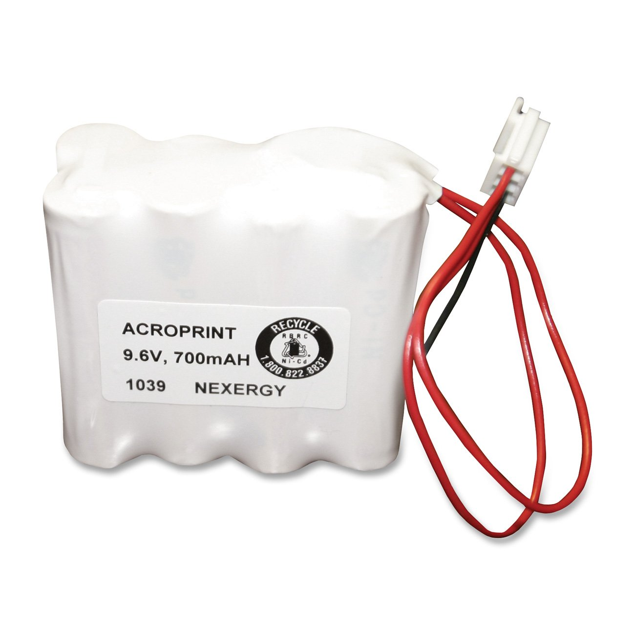 Acroprint 58-0108-000 Optional Back-Up Battery for Model ES900 Electronic Payroll Time Recorder 580108000