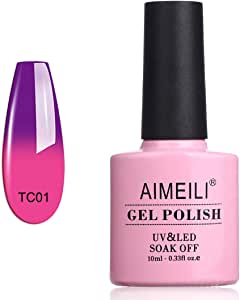 AIMEILI Gel Nail Polish Soak Off UV LED Temperature Color Changing Chameleon - Arabian Nights (TC01) 10ml