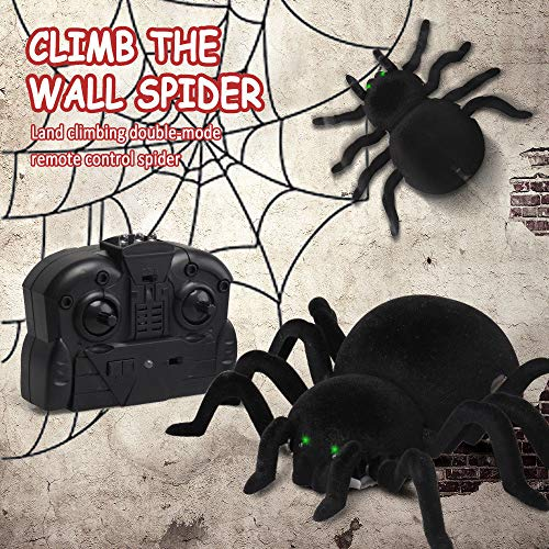 Rc Wall Climbing Spider Toys for Kids, Remote Control Creeper Spider Prank Realistic Scary Toy - Nice New Year Gift