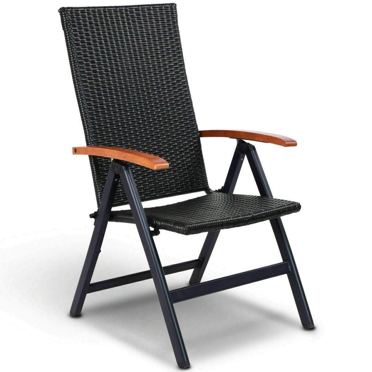 Amazon.com: Kanizz - Silla reclinable de jardín con respaldo ...