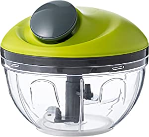New Multi-Function Food Pull Chopper Mini String Corded Quick Slicers Processor Grater Cutting - HandPowered Easy Blend and Mixing! Onion Tomato Meat Vegetable Fruit Garlic Chopper
