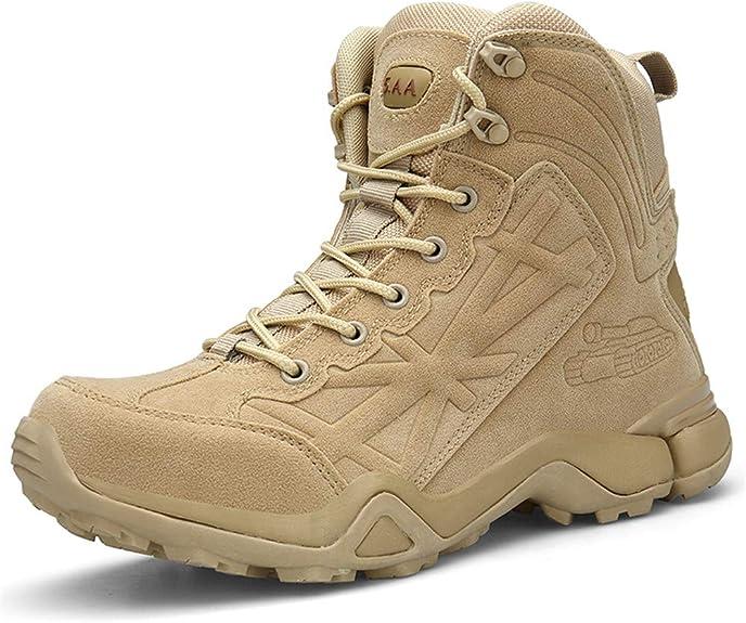 Botas de Tobillo Ailishabroy para Hombre, Botas Militares de