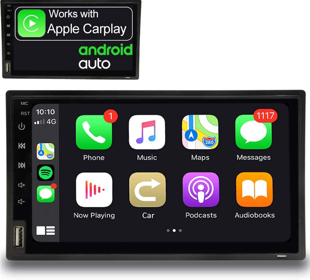 IYING 7 Inch Car Radio Wireless Apple CarPlay & Wired Android Auto Universal Double Din Bluetooth AM/FM Radio in-Dash Car Stereo Receiver Car Multimedia MP5 Player