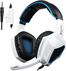 Xbox One,PS4 Stereo Gaming Headset,3.5mm Wired Over Ear Noise Cancelling Gaming Headphones with Mic & Volume Control & Bass Surround for Mac/PC/Laptop