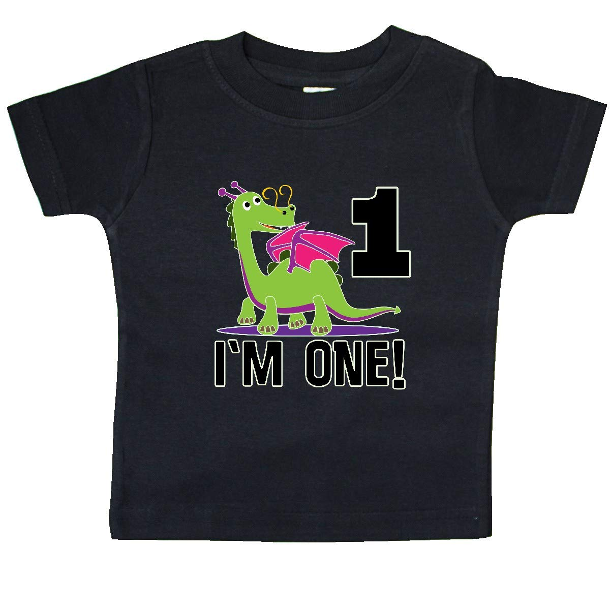 inktastic First Birthday Outfit Girl Dragon Baby T-Shirt