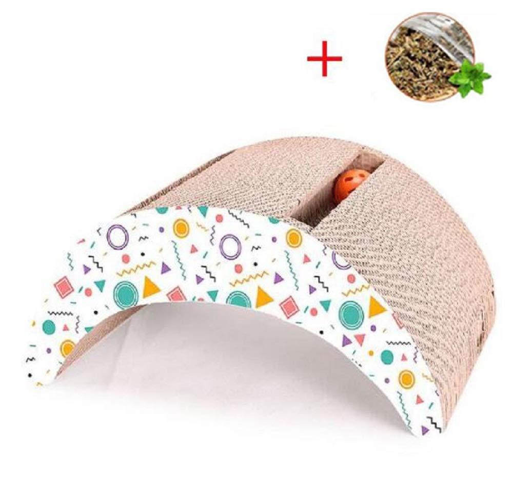 GDDYQ Cat Scratch Board, Arch Bridge Corrugated Pet Sharpener Paper, Wear Resistant Scratch Claw Care Toy Recyclable Scratch Board