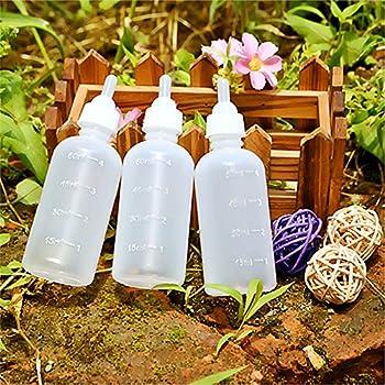 Lautechco 3 Pcs 60ml Feeding Bottle Set for Pets, Hand Feeding Kit for Nursing Puppies, Kitten and Other Animals