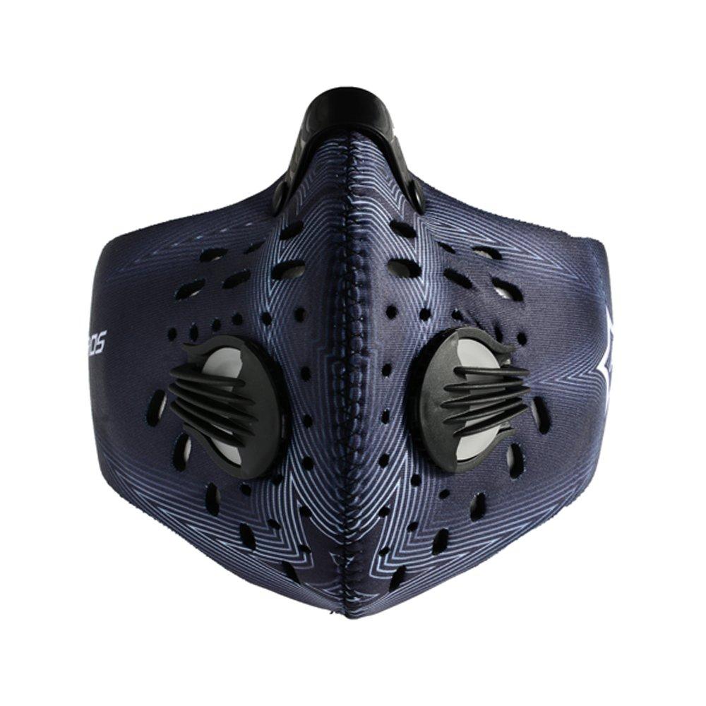 RockBros Staubmaske Halbmaske Sport Atemschutzmaske mit Aktivkohlefilter und Ausatemventil PM2.5 Anti Staub/Smog/Wind