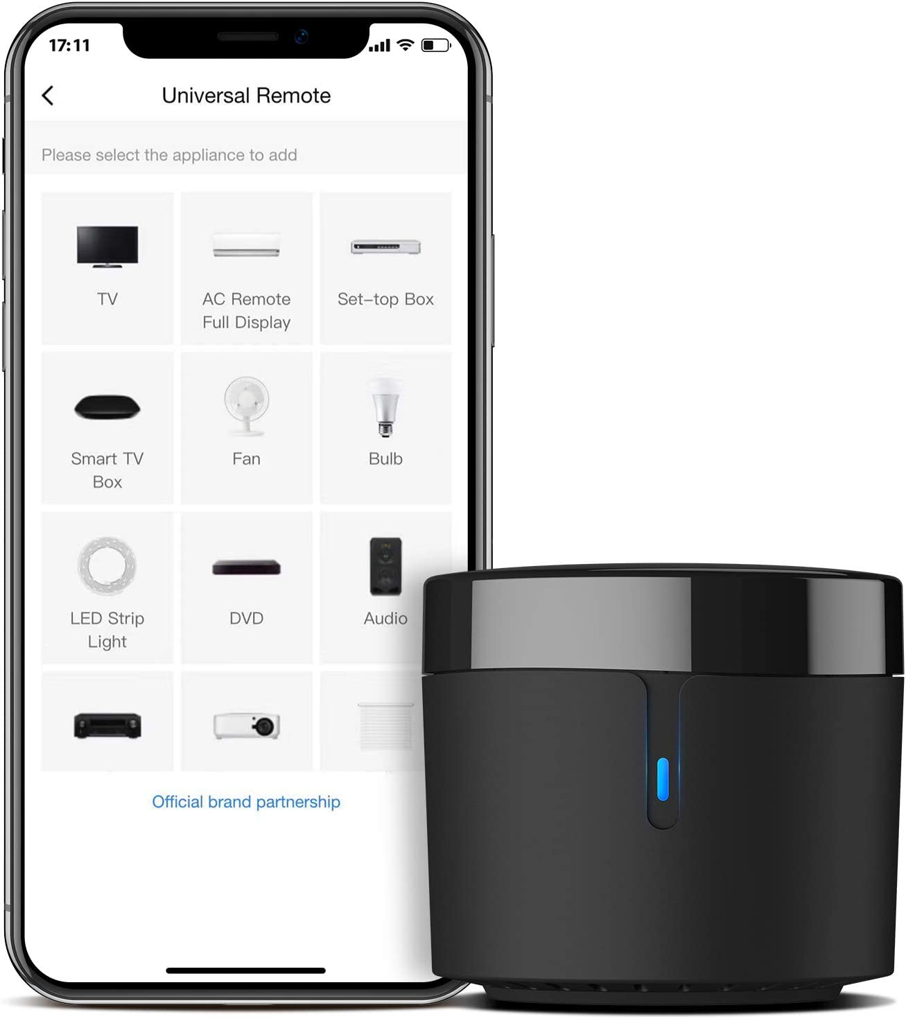 BroadLink Smart Home Hub-WiFi Remote Control IR Blaster for Smart Life Home Automation, TV Remote, Works with Alexa, Google Home, IFTTT (RM4 Mini) - -