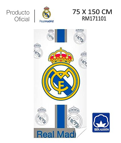 Real Madrid C.F. Toalla DE Playa Y Baño Real Madrid (RM171101, 75X150CM)