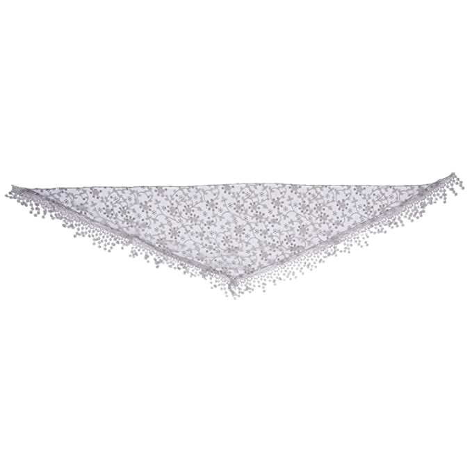 white Fashion Tassel Lace Bare Floral Print Scarf Mantilla Holder Cloth Gauze Women's Scarves
