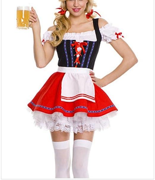 manorgirl 3 piece swiss beer girl oktoberfest costume women
