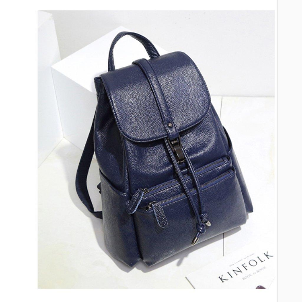 8465c35d8e ... borsa HUANGDA Zaino Zaino Zaino in pelle doppia spalla, borsa da viaggio  casual semplice, ...