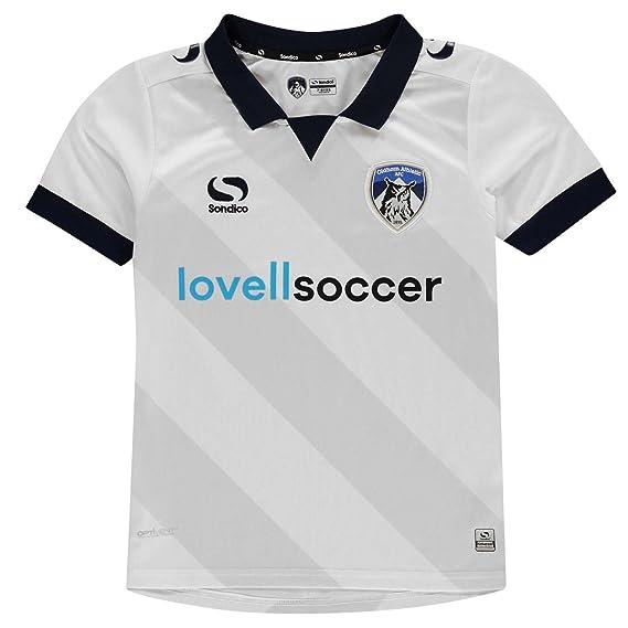cdc3cf6e81c Sondico Boys Oldham Athletic Away Shirt 2018 2019 White/Navy UK 13 (XLB):  Amazon.co.uk: Clothing