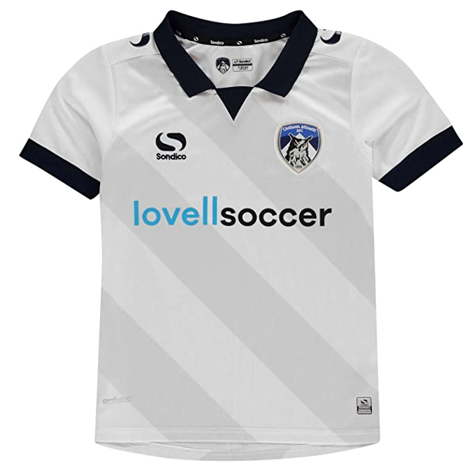 Sondico Niños Oldham Athletic Away Camiseta 2018 2019 Blanco Azul Marino M  (9- 762f234cfa50f