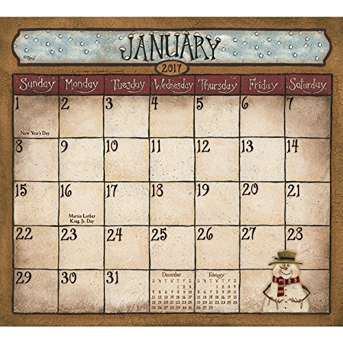 Legacy Publishing Group 2017 12-Month Magnetic Calendar Pad, Folk Art By David (MCP29749)