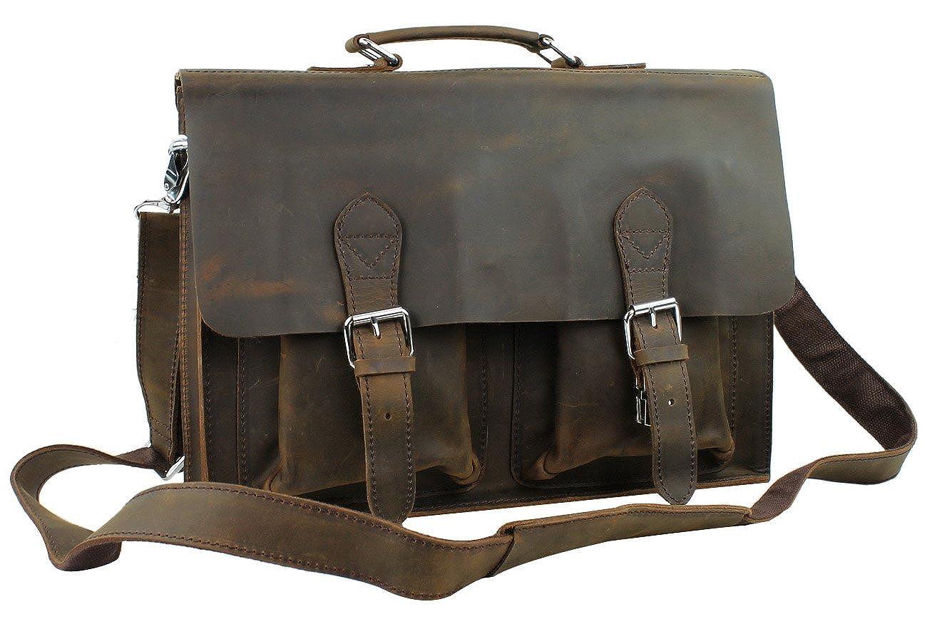 Vagabond Traveler Cowhide Leather Briefcase Laptop Bag L38   B073S8ZDH4