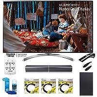 LG 55 Super UHD 4K HDR Smart LED TV 55SJ8500 w/LG SJ7 Wireless Sound Bar Bundle