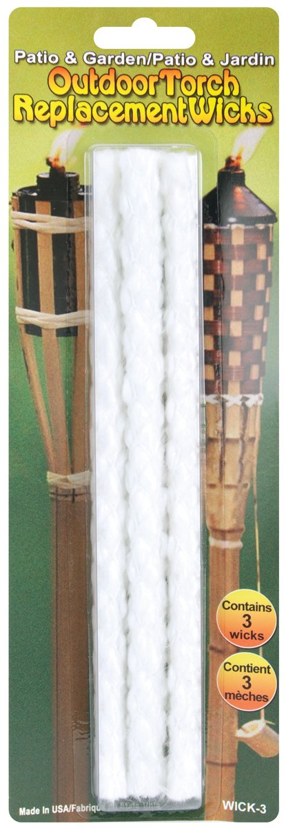 Pepperell Outdoor Torch Replacement Wicks 8-1//4-Inch 3 Per Package