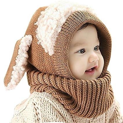 nusey (TM) bebé orejas de conejo gorro infantil gorro gorro gorra de invierno  cálido b6031ed99ba