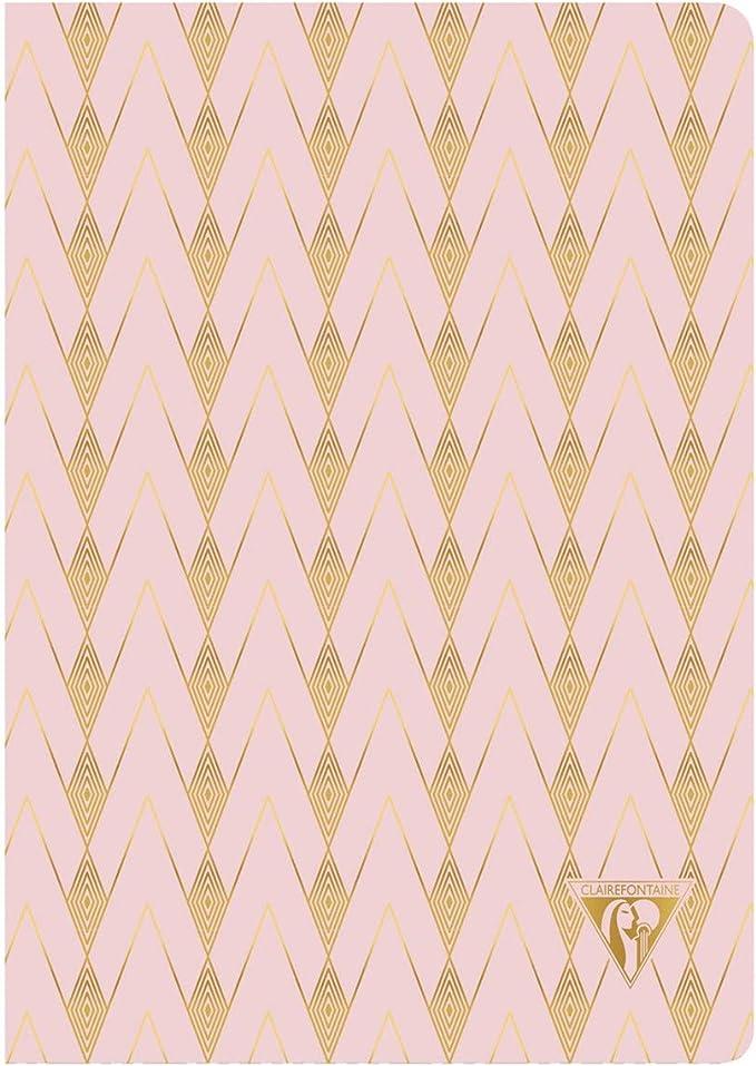 Un carnet piq/ûre textile Neo Deco Collection Printemps-/Ét/é 96 pages ivoire 14,8x21 cm 90g lign/ées Couverture carte pellicul/ée Jaune fleur de soufre motif Tropical Clairefontaine 193536C