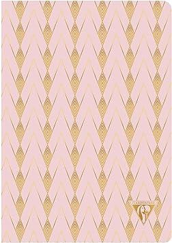 Un carnet piq/ûre textile Neo Deco Collection Printemps-/Ét/é 96 pages ivoire 9x14 cm 90g lign/ées Couverture carte pellicul/ée Vert deau motif Liane Clairefontaine 193396C