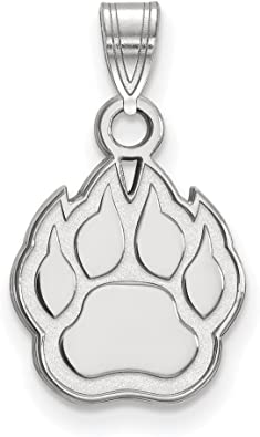 17mm x 23mm Solid 925 Sterling Silver with Gold-Toned Northern Illinois University Pendant in Heart