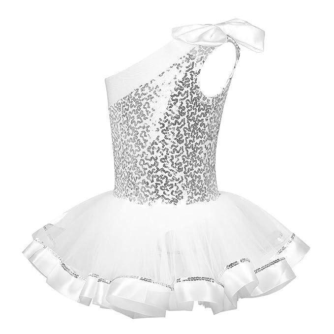 dPois Maillot Ballet Lentejuelas Niña Disfraces Bailarina Leotardo ...