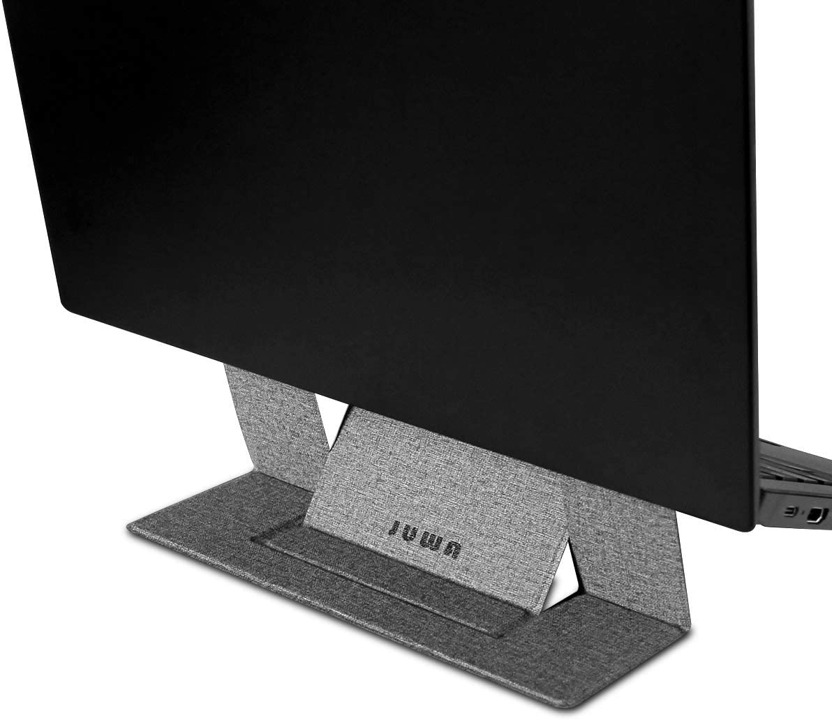 Portable Laptop Stand Adhesive Invisible Laptop Stands Dual-Angle Adjustable Anti-Slip Kickstand Foldable for MacBook Laptops Ipad Tablet(Gray)