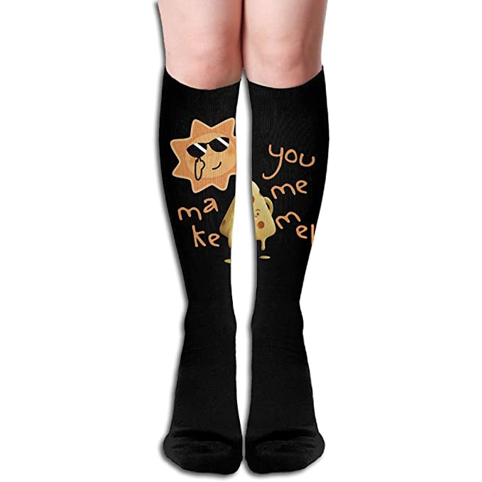 19341f06c7 Image Unavailable. Image not available for. Color: Unisex You Make Me Melt  Feel Hot Weather Design Elastic Long Socks ...