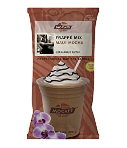 MOCAFE Frappe Maui Mocha Ice Blended Coffee, 3-Pound Bag Instant Frappe Mix, Coffee House Style Blended Drink Used in Coffee Shops