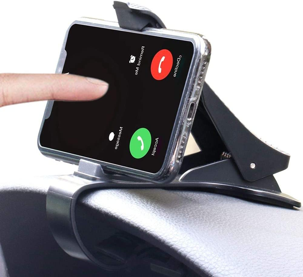 Car Phone Holder Dashboard Cellphone Mount, Mobile Clip Stand, Dashboard Clip Mount Stand for GPS and Smart Phone(3.0-6.5inch)