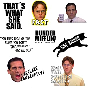 The Office Sticker Pack of 8, Cute Stickers, Stickers for Water Bottles, Laptop Stickers, Hydro Flask Stickers, Hydro Flask Accessories
