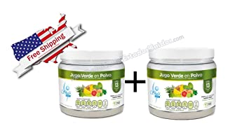 X2 Jugo Verde en Polvo/Green Juice Powder Cleaner with Vitamins That Fortify The Immune