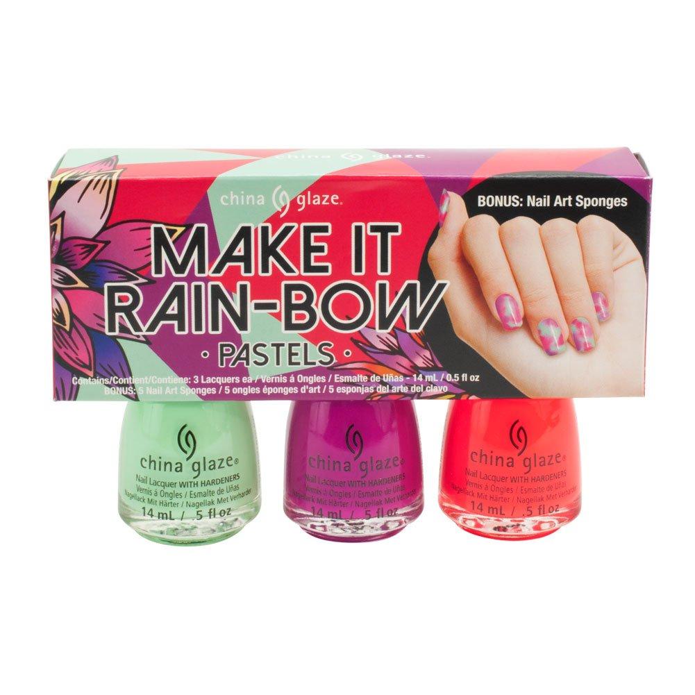 Amazon.com: China Glaze Lacquer 3pc Make It Rain-Bow Pastels: Beauty