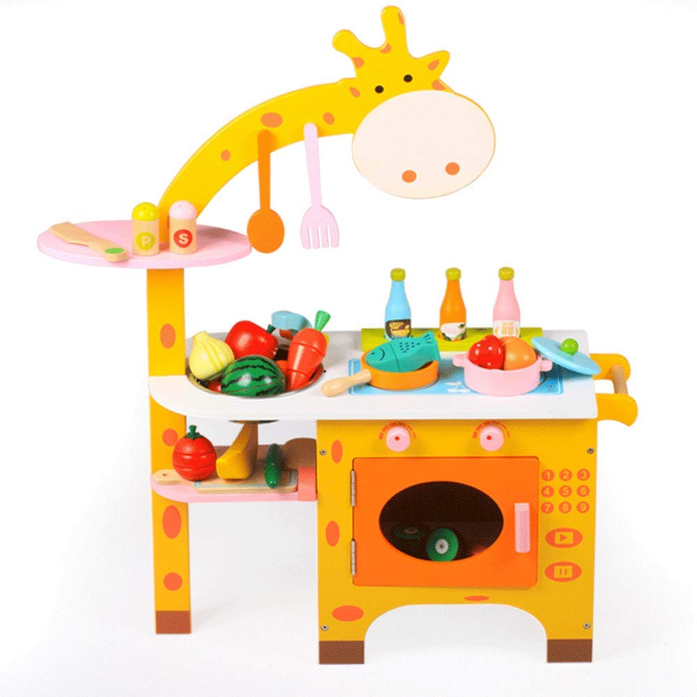 tienda de venta en línea A Juguetes para niños niños niños Juego de simulación Juego de simulación Cocina de madera de calidad Niño niña Juego de cocina 3-5 Regalo de cumpleaños Educación temprana Juguetes educativos ( Tamaño   A )  venta con descuento