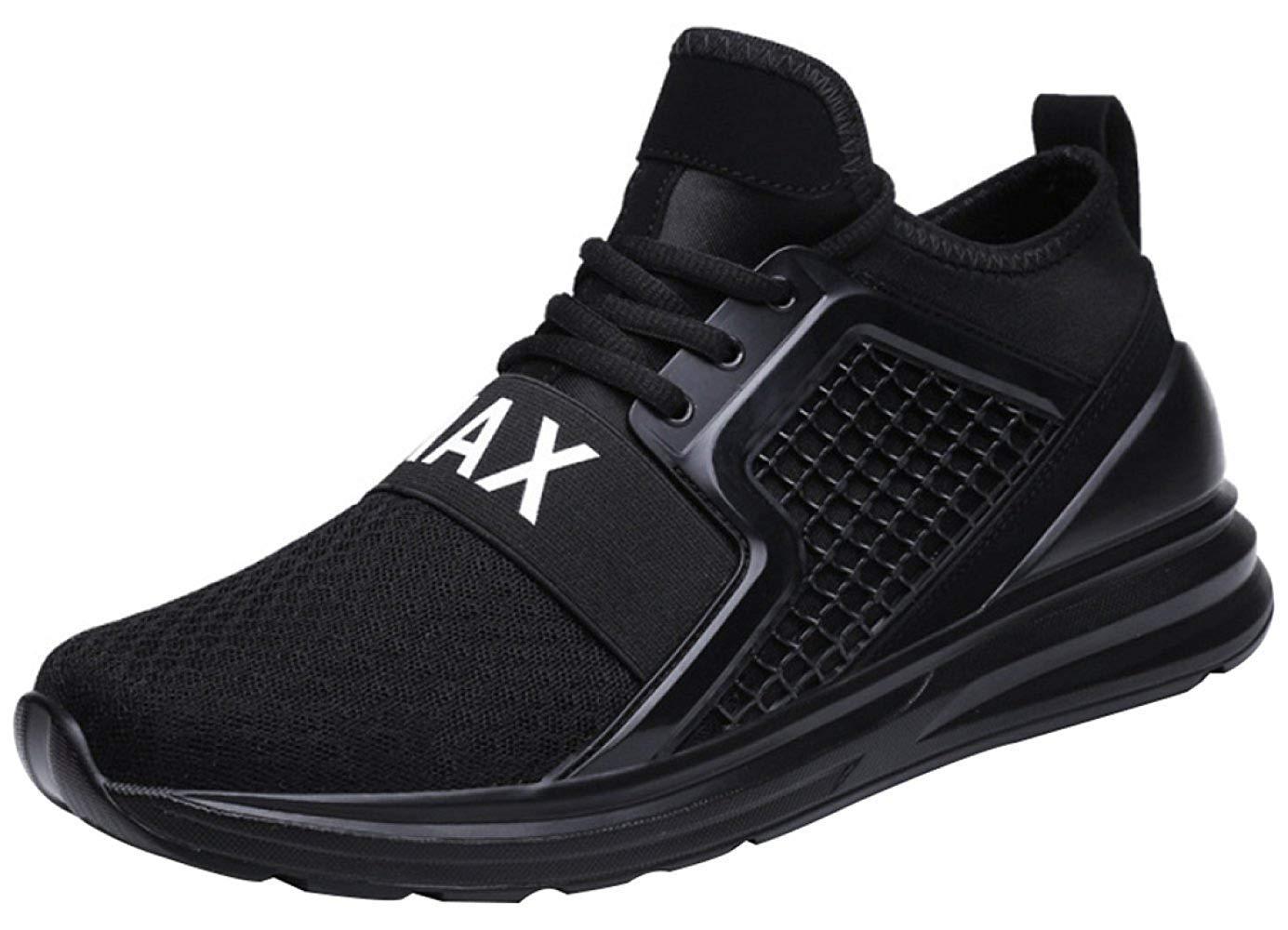 Oudan Laufende Schuhe Der Männer Beiläufige Turnschuhe Breathable Wandernde Mode (Farbe : Schwarz, Größe : 47EU)